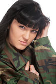 Army girl — Stock Photo