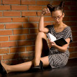 Woman with book - Stock Photo