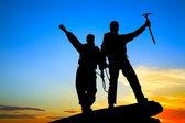 Iki dağcı — Stok fotoğraf