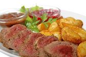 Smażone mięso — Zdjęcie stockowe