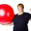 Fitness for fat woman — Stock Photo #6173563