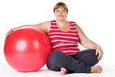 Tlustá žena — Stock fotografie