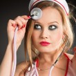 Sexual nurse — Stock Photo