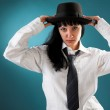 Woman with a hat — Stock Photo #6637813