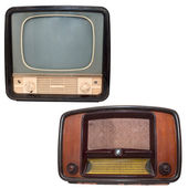 Retro TV and radio — Photo