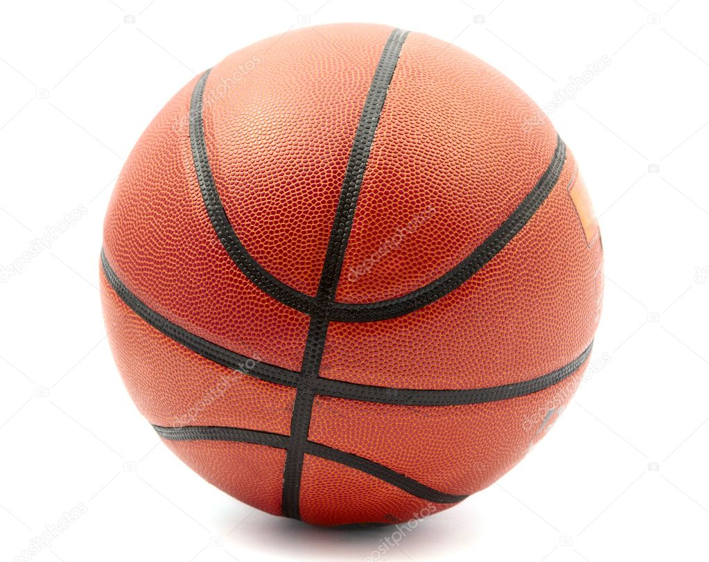 Basketball ball on a white background — Stock Photo #5701879