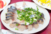 Herring in a dish — Stock Photo