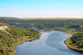 Landscape of the Dniester River — Stock Photo