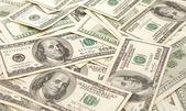 100 rachunki za dolara — Zdjęcie stockowe