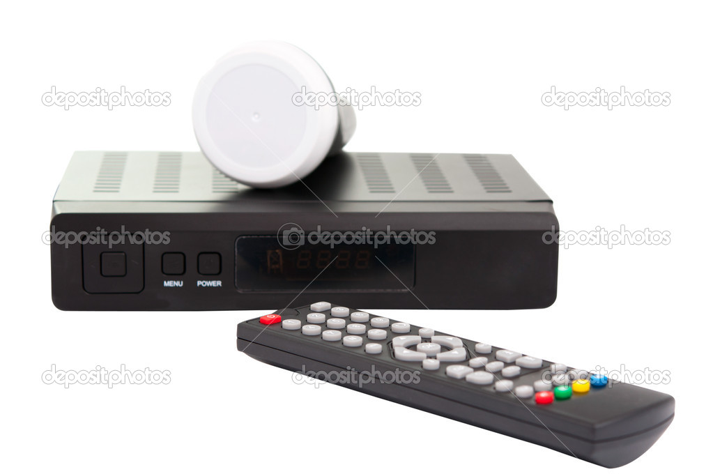 Satellite TV on a white background — Stock Photo #6484190