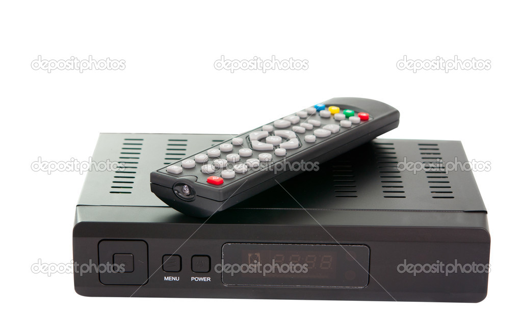 Satellite TV on a white background  Stock Photo #6484255