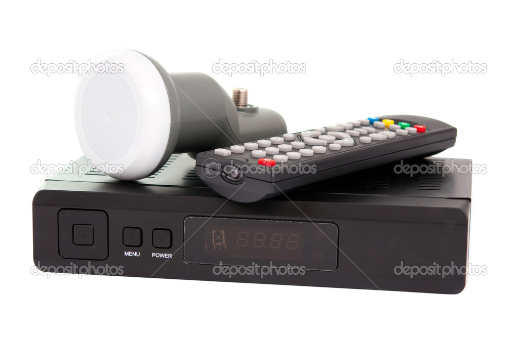 Satellite TV on a white background — Stock Photo #6484296