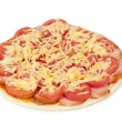 Pizza with tomatoes and cheese - Stock Photo