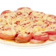 Pizza with tomatoes and cheese — Stock Photo #6639918
