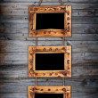 Three bamboo frames — Stock Photo