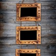 Three bamboo frames — Stockfoto