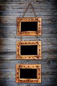 Three bamboo frames — Stock Photo