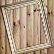 Frame on wooden background — Foto Stock