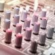 Sound mixer in studio - Stock Photo