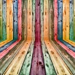 Royalty-Free Stock Photo: Multicolored wooden interior