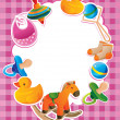 Vector frame with children toys - Stock Vector