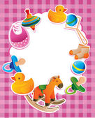 Vector frame with children toys — Stockvektor