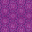 Oriental seamless pattern in violet colors — Image vectorielle