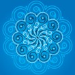 Blue mandala - Stock Vector