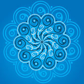 Blue mandala — Stock Vector