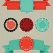 Set of retro design elements — Stock Vector #6488432