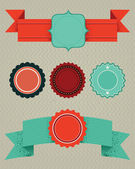 Set of retro design elements — Stock Vector