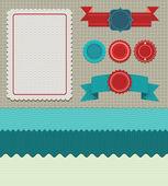 Set of retro design elements — Stock Vector