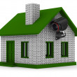 Security camera on house. Isolated 3D image — Stock Photo #5383834
