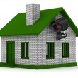 Security camera on house. Isolated 3D image — Stock Photo