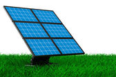 Solar battery on grass. Isolated 3d image — Stock Photo