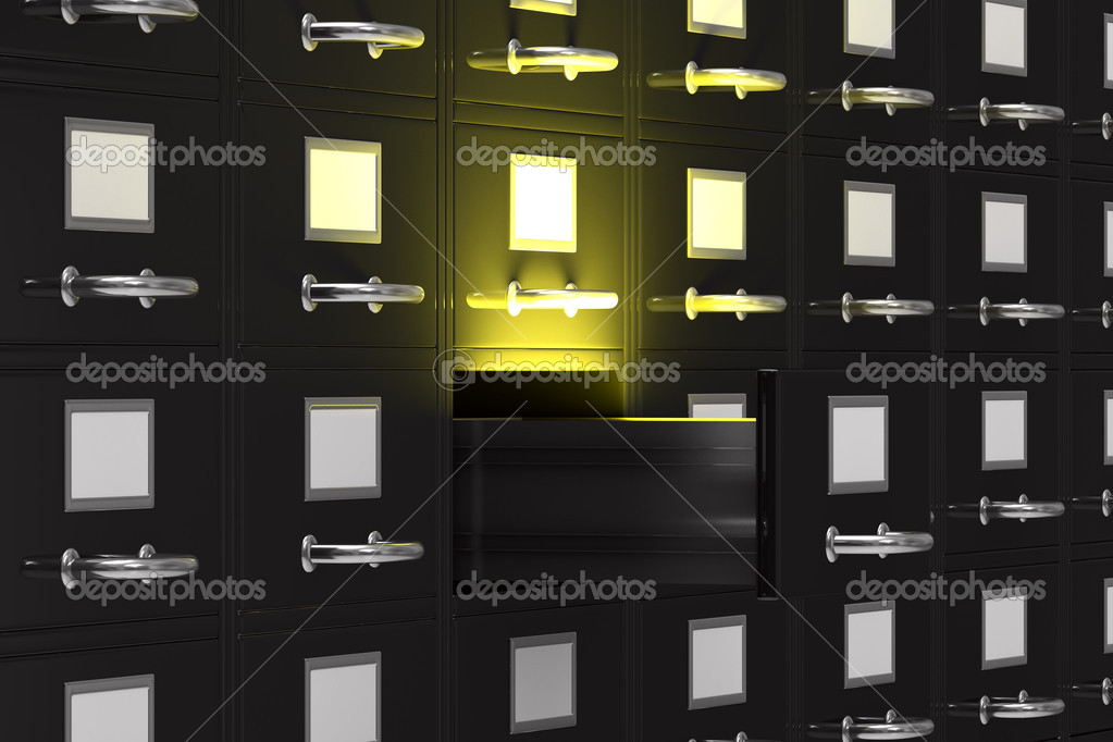 Filing cabinet on white. Isolated 3D image — Stock Photo #5703782