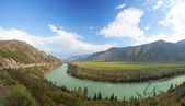 Altay mountains. river Katun. Russia — Stock Photo