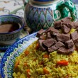 Stock Photo: Uzbek pilaf