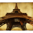 Postcard with Eiffel tower — Stock Photo