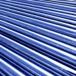 Tubes toned in blue color — Stock Photo