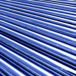 Stock Photo: Tubes toned in blue color