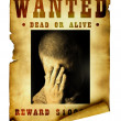 Vintage wanted poster - Stock Photo