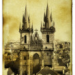 Church of Virgin Maria Before Tyn in Prague - Stock Photo