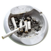 Ashtray with cigarette butts — Stock Photo