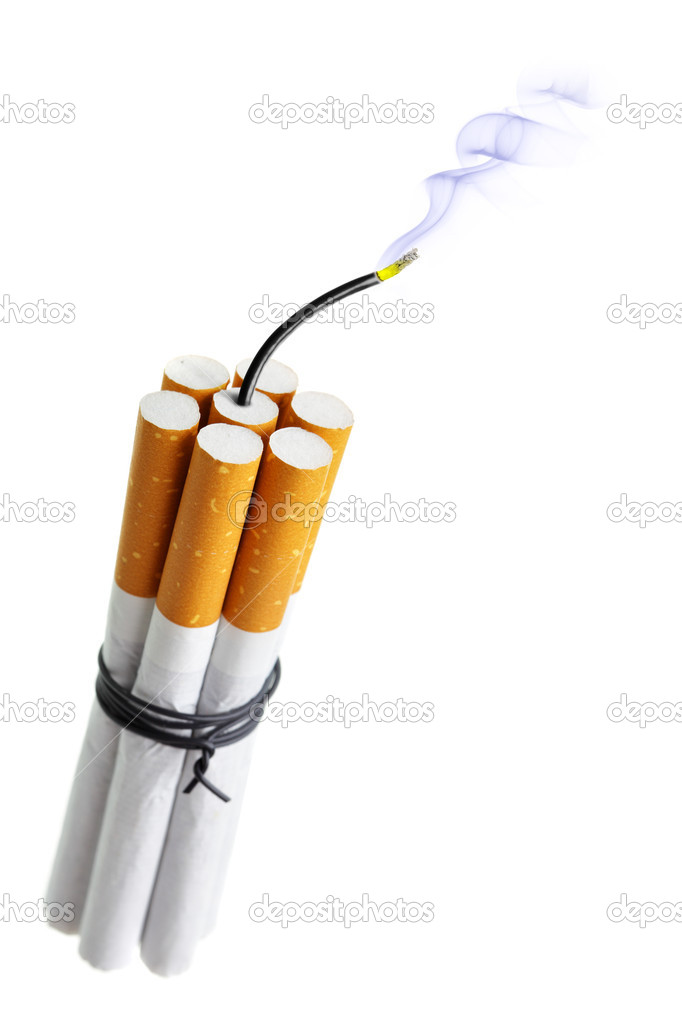 Cigarette bomb isolated over the white background — Stock Photo #5624720