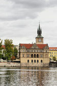 Church near Vltava river — Stock Photo