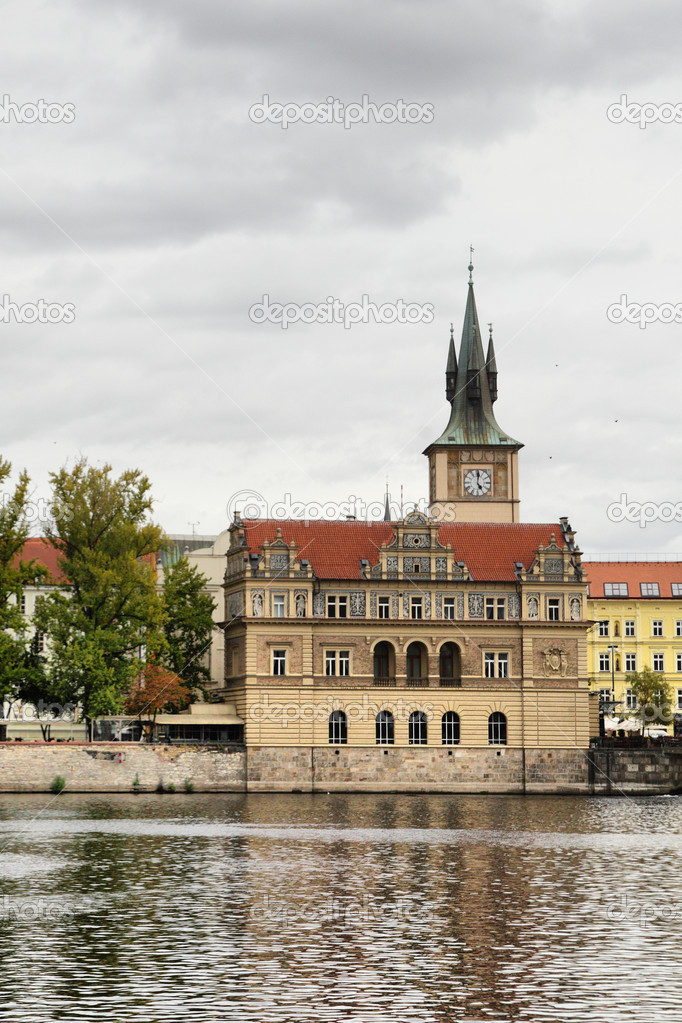 Old church near Vltava river in Prague, Chech republic — Stock Photo #5673874