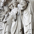 Sculptures on Notre Dame de Paris - Stok fotoğraf
