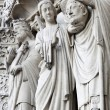 Sculptures on Notre Dame de Paris - 图库照片