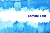 Blue abstract watercolor background — Stock Photo